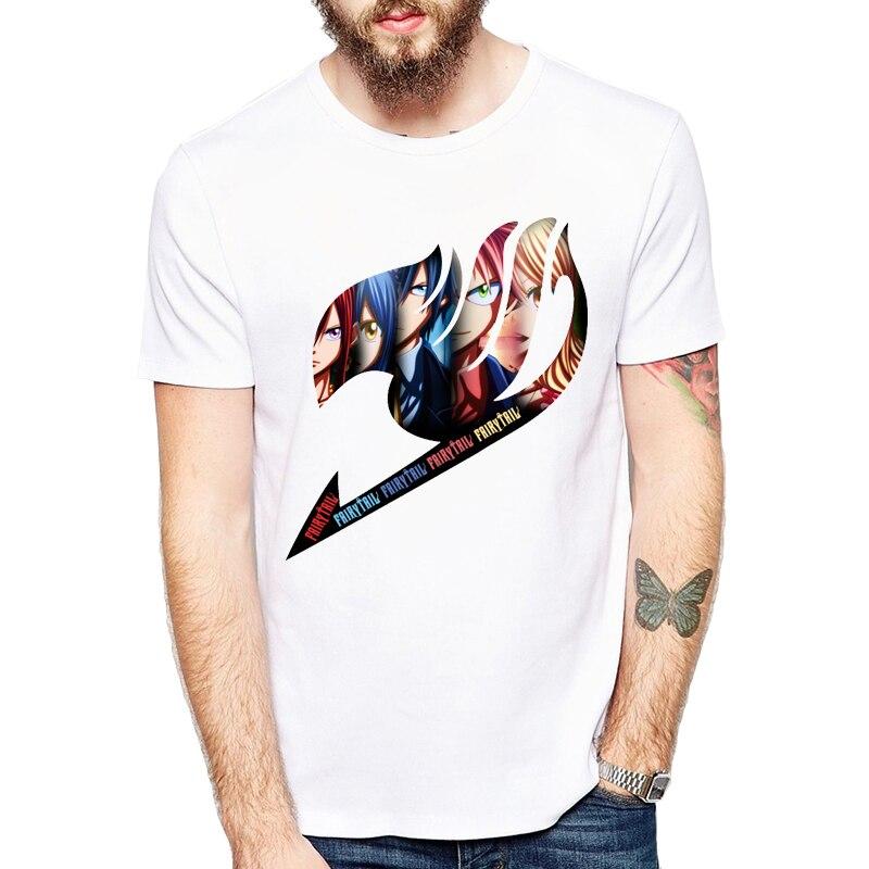 2019 Fairy Tail Group Logo Anime Printed   T  -  shirt   Men Fashion   t     shirt   Comfortable Casual tshirt homme Top tees