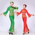 Новый Красный Женщины Дамы Древние Китайский Национальный Костюм Традиционный Китайский Yangko Танцевальные Костюмы Классический Этап Дешевую Одежду