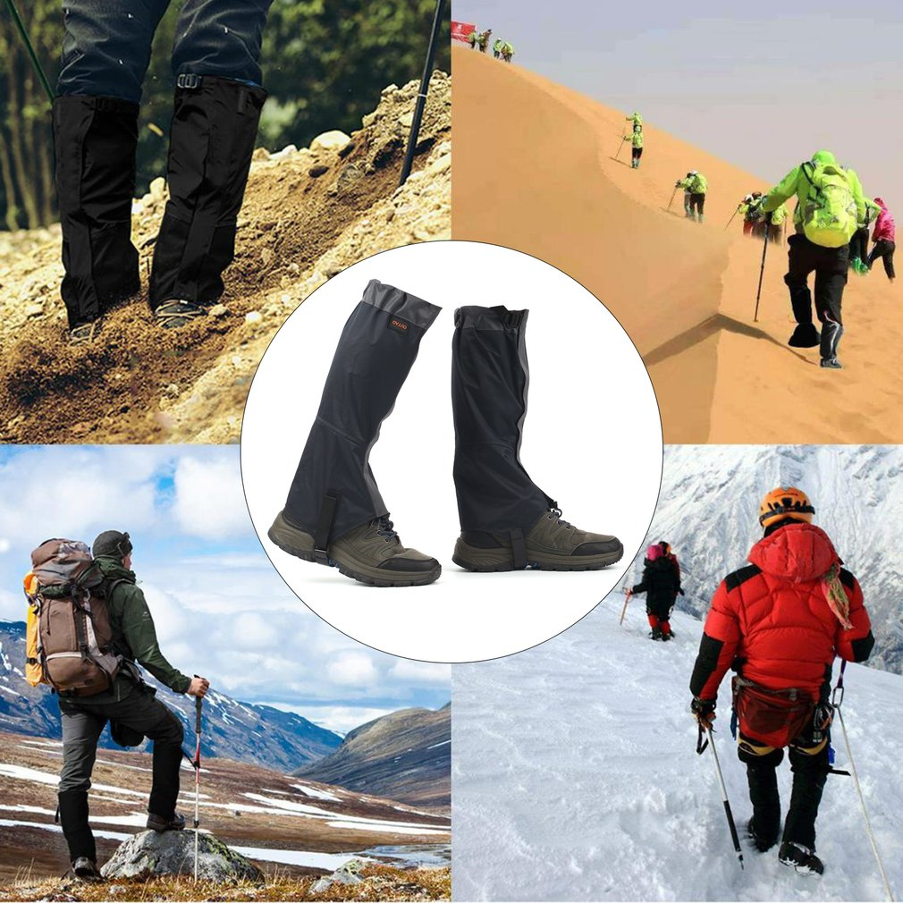 1 Pair Waterproof Snow Legging Gaiters Cover Wear Breathable Leg Gaiters For Outdoor Hiking Walking Climbing Hunting