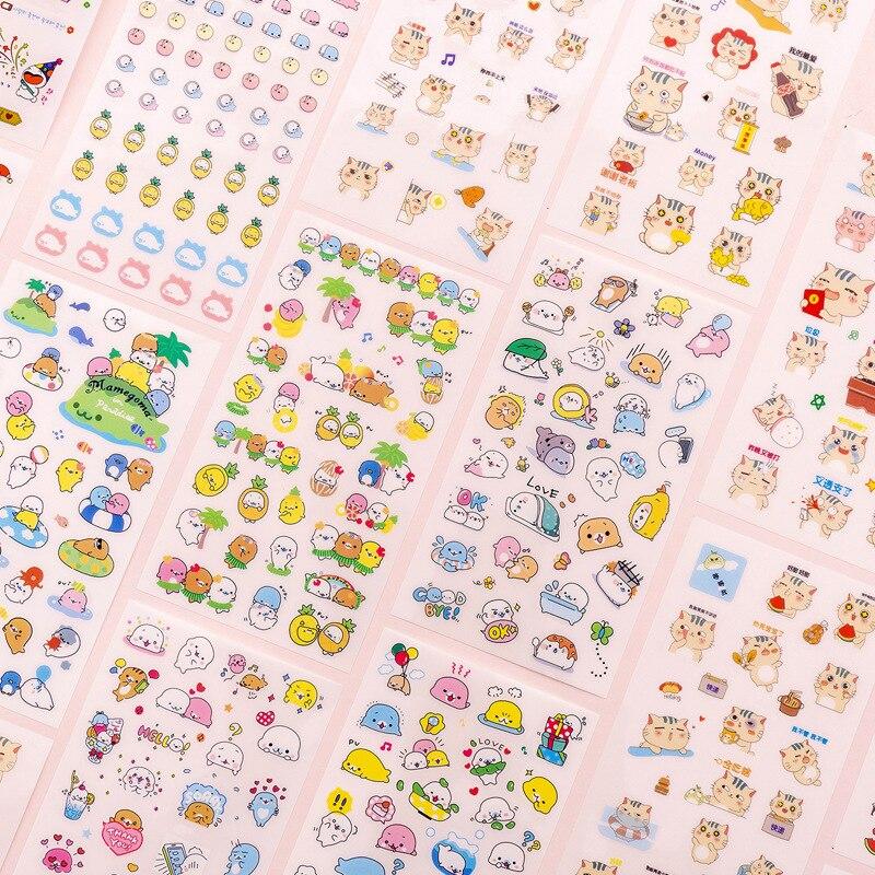 6 Sheets lot Cartoon Cute font b Pet b font Cat Sticker DIY Album Mobile