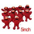 """10 pçs/set 5 """"12 cm Sesame Street Elmo Stuffed Suave Plush Doll Brinquedos de Pelúcia Vermelho Pingente Chaveiro Pingente Animal Dolls Crianças Presentes"""