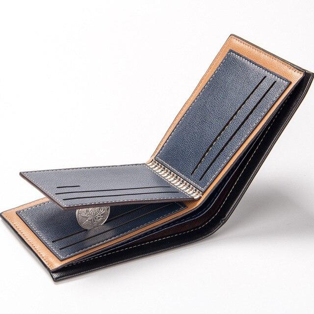 남자 walet pu 가죽 남자 지갑 돈 가방 신용 카드 소지자 달러 빌 지갑 클러치 지갑 소년 지갑 지갑 새로운 2019