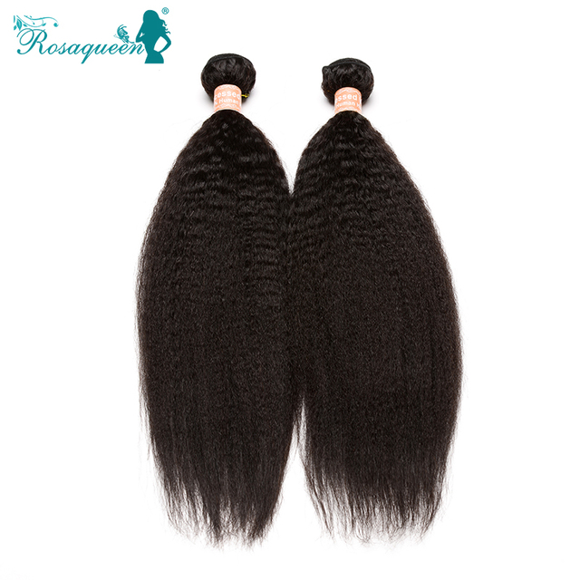 Mongolian Virgin Hair Coarse Yaki Human Hair Weaves 6A Mongolian Kinky Straight Hair Extensions 2 Pieces Lot Free Shipping