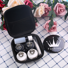 Fashion luxury Contacts Lens Case Travel High quality imperial crown Box suit love beauty women