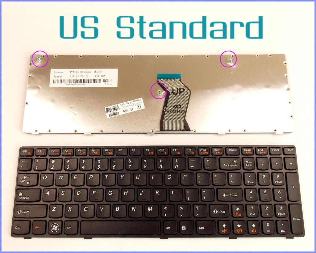 US English Version Tastatur für <font><b>LENOVO</b></font> IdeaPad G560A G560L <font><b>G560</b></font> G 560 G565 0679 Laptop Mit Rahmen image