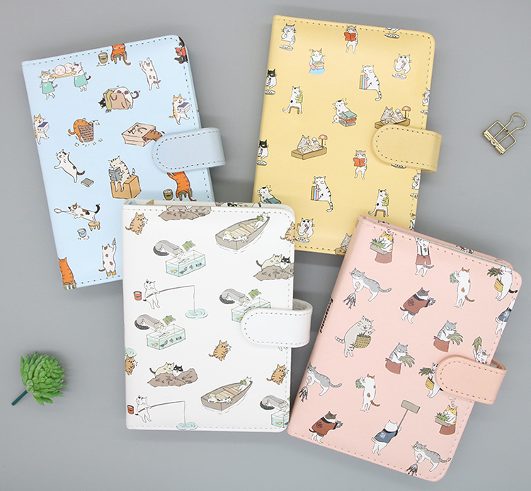 Creative trends mini A6 diary notebook cute cat cover memo A5 notepad school supplies student children gift free shipping trends brands свитер trends brands ss16 mini 9855 bg