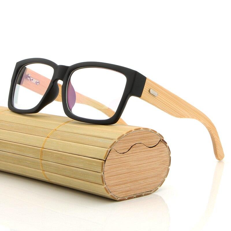 hdcrafter rectangle wooden eyeglasses frames men bamboo glasses frame glasses spectacles reading optical glasses frame in eyewear frames from mens clothing - Wooden Eyeglass Frames
