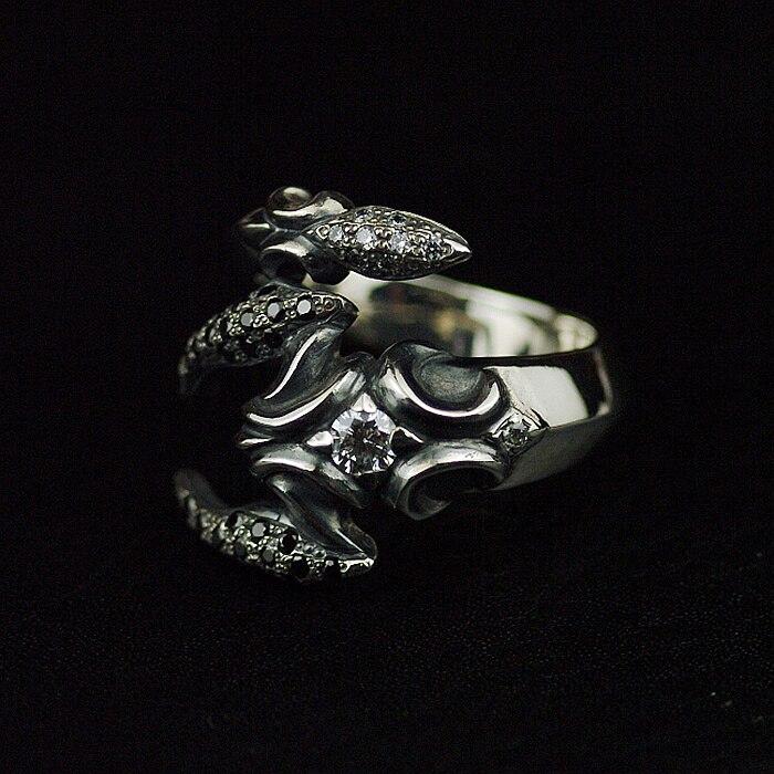 Ювелирные украшения Ретро 925 пробы Серебряное кольцо с ядовитый Скорпион, тайский серебряное кольцо