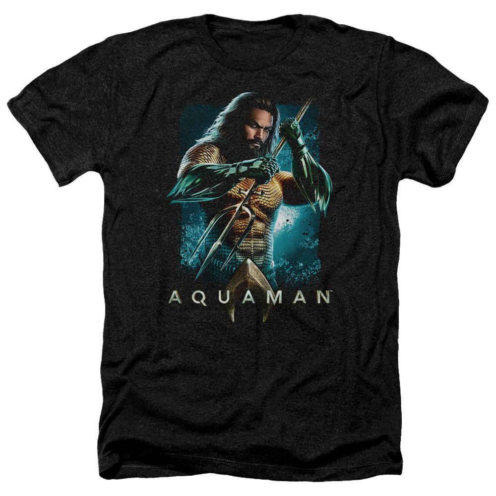 Aquaman Filme T-Shirt Urze Posando T Preto