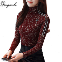 Dingaozlz Casual Clothing Women Tops Fashion 2018 Spring New Slim Korean Elegant Female Long Sleeve Blouse