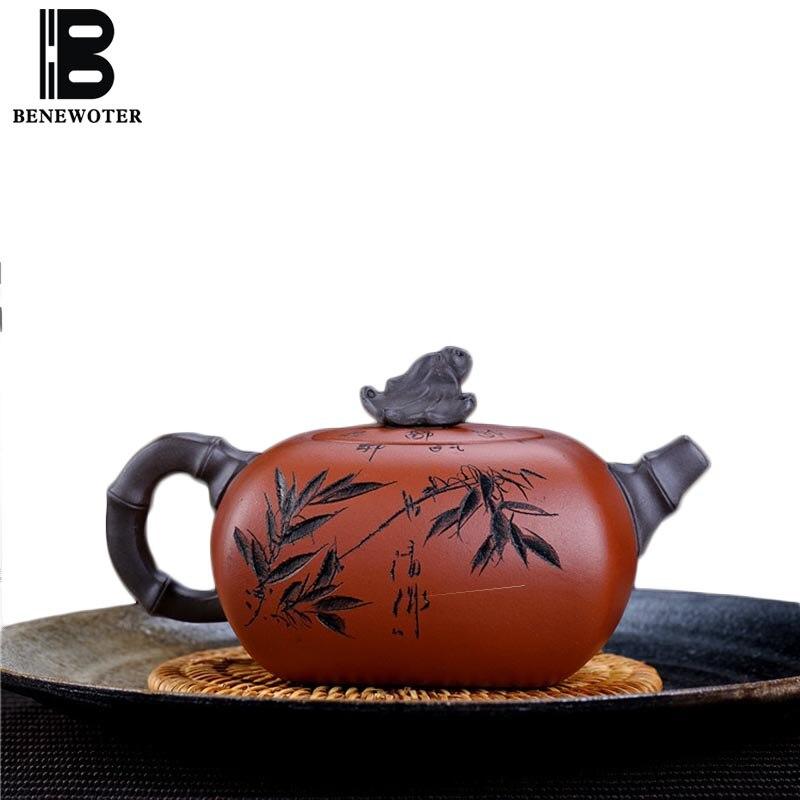 260cc Yixing théière en argile pourpre minerai brut Qing Shui boue créative Zisha Pot Art Drinkware décoration domestique Tieguanyin bouilloires