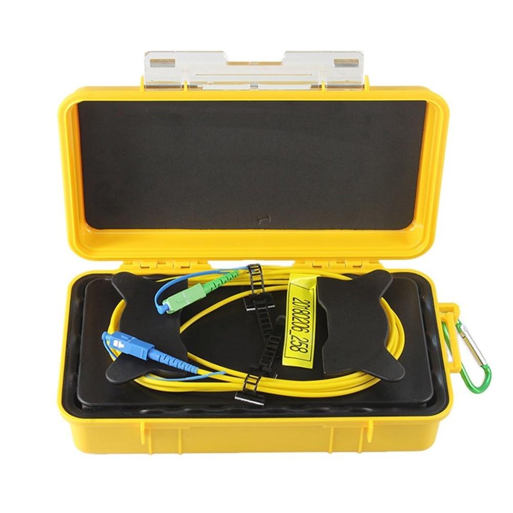 SC UPC/SC APC Профессиональный одиночный режим 1 км OTDR launch Cable Box Кольцо с плетением OTDR launch волоконно оптический кабель