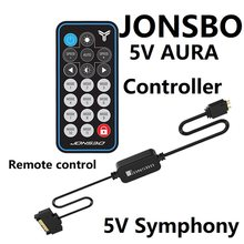 Jonsbo 5V Argb Controller Remote Control LED Cool Light 5V Symphony Edition(China)