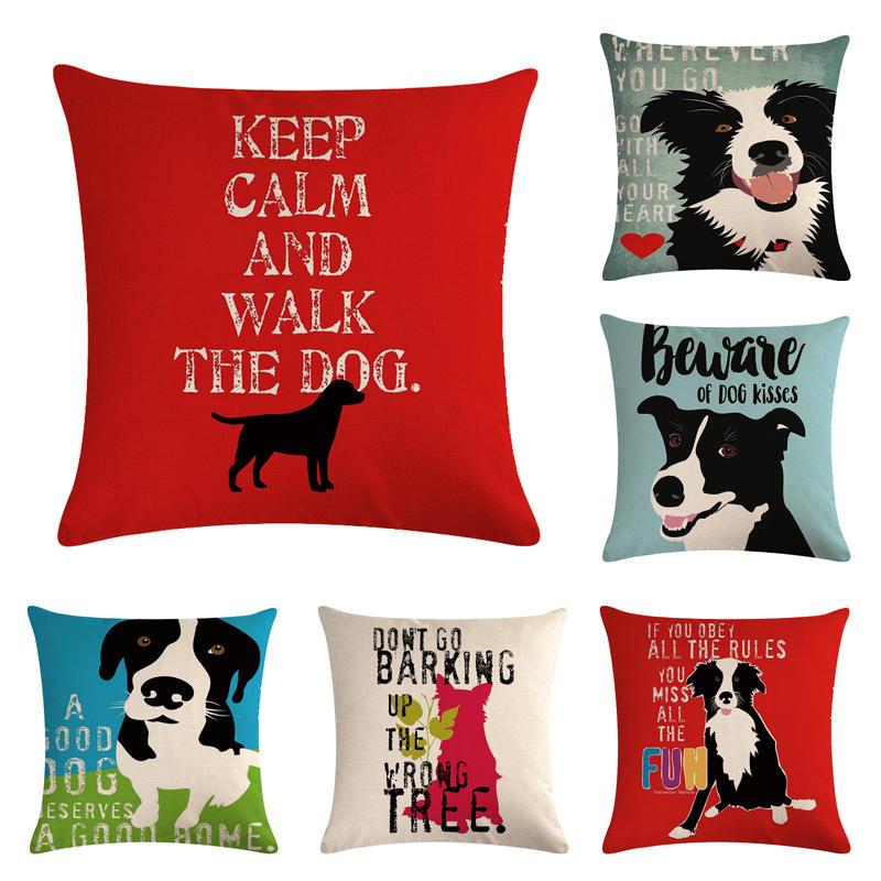 Home & Garden Home Textile Dutiful English--pet Dog 21 Homerdecor Cushion Cover Throw Pillowcase Pillow Covers 45 45cm Sofa Seat Cushion Decorative Unequal In Performance