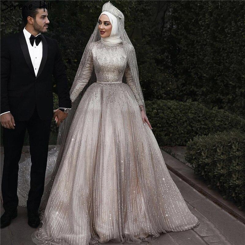 Vintage Wedding Dresses Galway: Muslim Sequined Sparkle Luxury High End Wedding Dresses