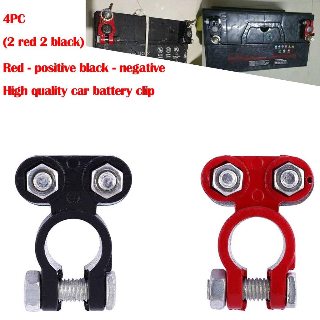 4pc Car Positive/&Nagative Heavy Duty Battery Terminal Clip Connector Clamp Brass