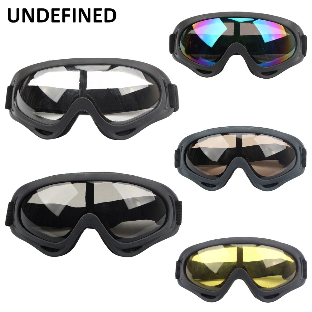 UNDEFINED Retro Motorcycle Goggles Glasses Oculos Cycling Off-Road Helmet Ski for Motorbike Moto Dirt Bike Racing Goggles DDD212