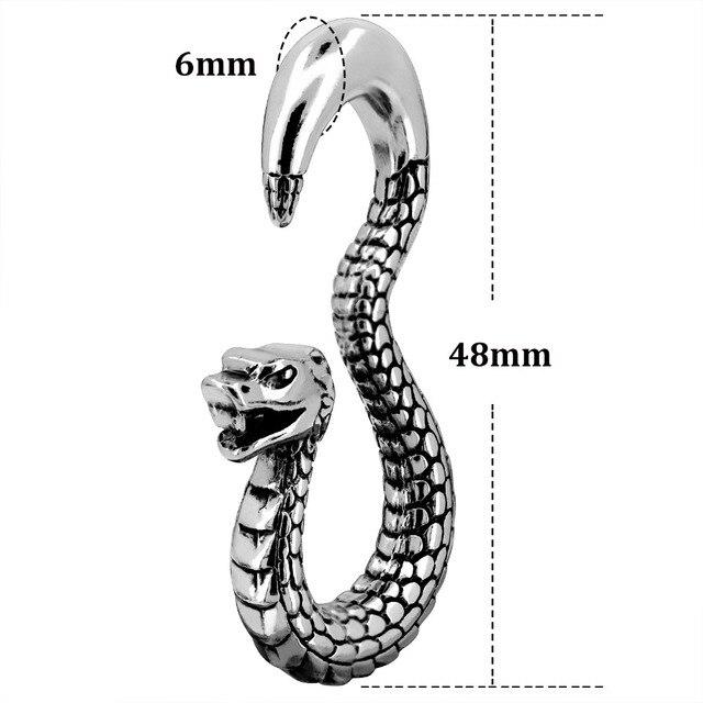 1 пара серьга со змеями туннели пирсинга ушные пробки конус