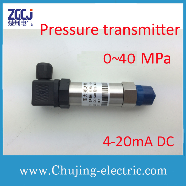 Free shipping !!!  Stainless steel Gas and Liquid Pressure transmitter 0-40MPa 24V DC  output 4-20mA DC pressure sensorFree shipping !!!  Stainless steel Gas and Liquid Pressure transmitter 0-40MPa 24V DC  output 4-20mA DC pressure sensor