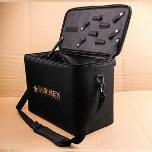 Image 4 - Profesyonel Çok Fonksiyonlu 2 Kat Kuaförlük seti Çantası Büyük Kapasiteli alet kutusu kalınlaşma su geçirmez makas çantası