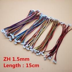 50 sztuk ZH 1.5mm 2/3/4/5/6/8 Pin podwójny żeński do złącza żeńskie 15 cm linia elektroniczna wtyczka kierunku do przodu 26AWG w Złącza od Lampy i oświetlenie na