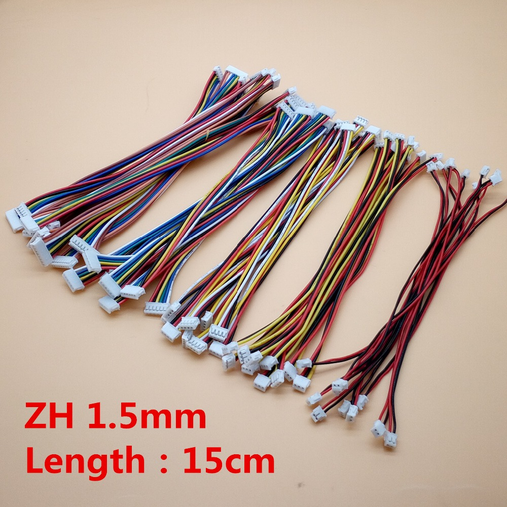 50Pcs ZH 1.5mm 2/3/4/5/6/8 Pin Double Female to Female Connectors 15cm Electronic Line Terminal Plug Forward Direction 26AWG|Connectors| |  - title=