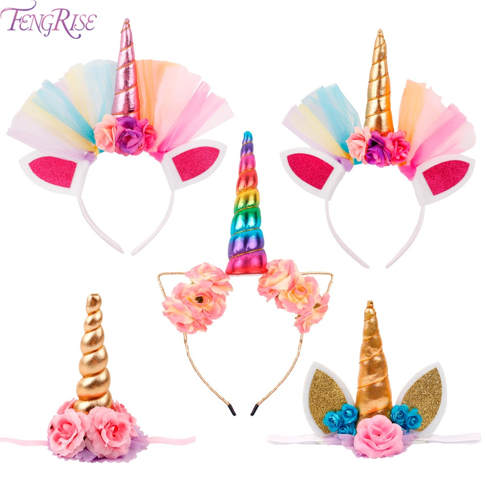 Party Diy Decorations Home & Garden Trustful Glitter Gold/silver Unicorn Horn Headband Boys Girl Kids Gift Birthday Hat Baby Shower Party Decoration Hair Accessory Hairband