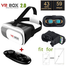 เมาVRกล่อง2.0รุ่นVRความจริงเสมือนแว่นตา3D Gafas +ไร้สายบลูทูธระยะไกลควบคุมgamepad