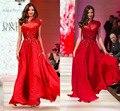2015 Nova Moda de Um Ombro Sequins A Linha Corpo Inteiro Chiffon Red Carpet Vestidos Celebrity-Inspirado Vestidos de Noite do baile de Finalistas