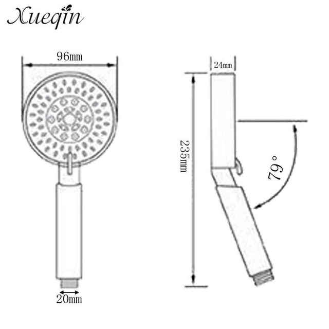 Xueqin 5 Mode Handheld Water Saving Shower Head Set Bathroom Spray ABS Pressurized Bathroom Shower With Holder And Hose