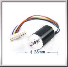 Envío gratis 117 W 25000 rpm 24 V 4.61A 0.045mn. m 28 mm * 45 mm 8 cables de alta velocidad de bajo consumo de corriente continua sin escobillas ventilador del Motor Motor de pulido