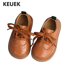 New Children Shoes Genuine Leather Fashion Baby Toddler Student Dress Shoes Kids Boys Girls Leather Shoes Spring/Autumn 02C цена 2017