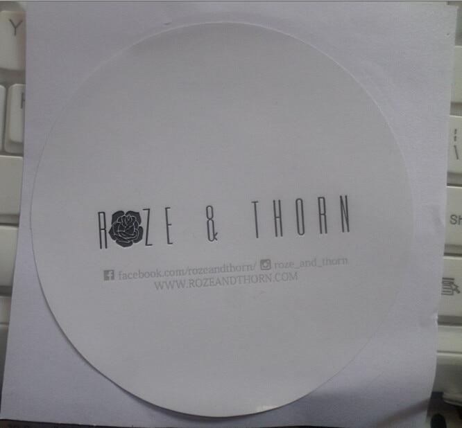 Impressão lustrosa da etiqueta de papel de