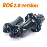 R06 2.0 NEW Road Bike Hub Low Resistance Design Aluminum 7075 Material Ceramic Bearing Big Flange Only 384g Bicycle Hub