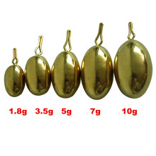 20*Lead Sinker 10g,7g,5g,3.5g 1.8g  Brass Fishing Accessory Copper Round Sinker Weight Pesca Fishing  Lure Baits Drop Shot Rig