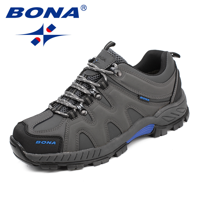 BONA New Arrival Classics Style Men Hiking Shoes Lace Up Men Sport Shoes Outdoor Jogging Trekking Sneakers Fast Free Shipping 1
