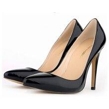 Neue 2016 frauen High Heels Plus SizeWomen Sexy Braut Dünne Ferse Spitz Gelb High Heels h175
