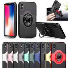 Luxury Magnetic Bracket Car Cases For iPhone X XS MAX XR 6 6s Plus TPU+PC Armor Cover For iPhone 7 8 Plus 5 SE Cases чехол rock tpu pc guard series для iphone 7 plus 5 5
