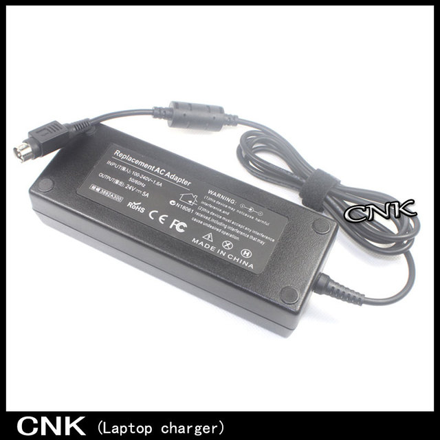 Personalizado 4Pin 4Pin 24 V 5A 120 W fonte de Alimentação AC DC Adaptador de energia de Comutação da fonte de Alimentação Para Monitor de Desktop Display LED Ac adaptador