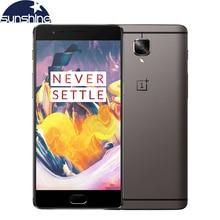 Оригинал Oneplus 3 T A3010 Один плюс 3 Т 4 Г LTE Мобильный Телефон Quad core Отпечатков Пальцев 5.5 «16.0MP 6 Г Ram NFC Android Смартфон