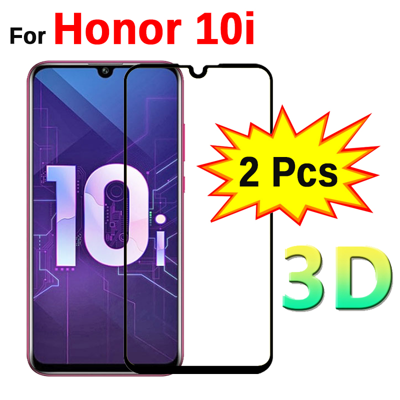 "2pcs 3D Tempered Glass On 10i Honor 10i Screen Protector Full Cover Protective Glass For Huawei Honor Honer 10i 6.2"" HRY LX1T-in Phone Screen Protectors from Cellphones & Telecommunications"