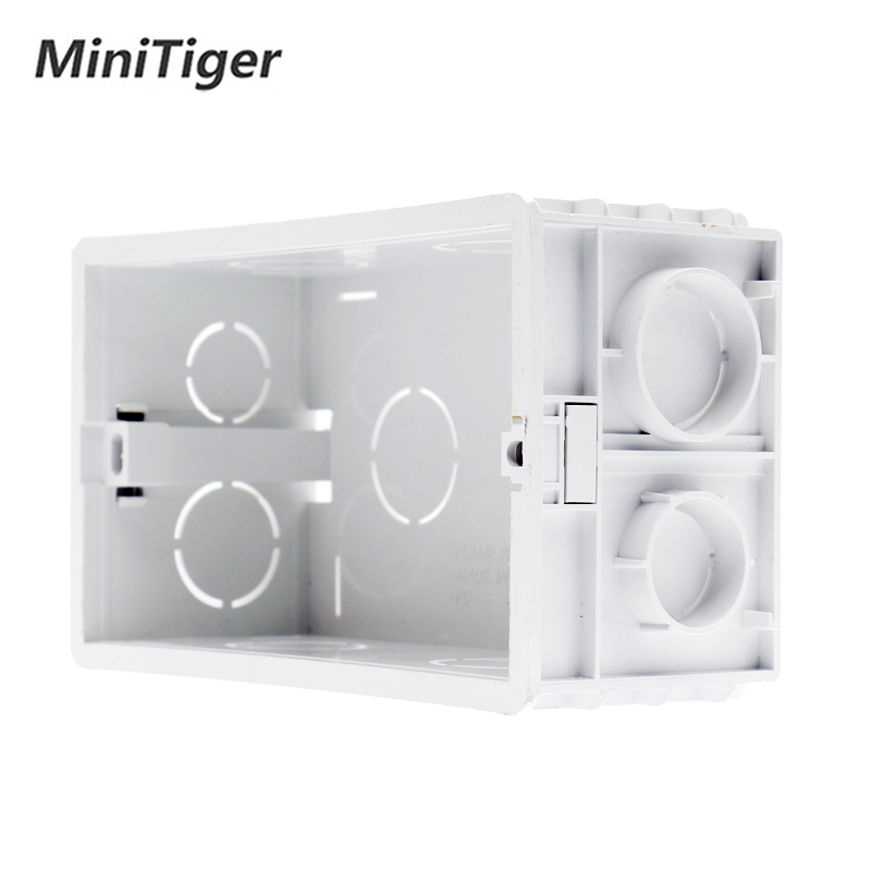 Minitiger Wall Mounting Box Internal Cassette White Back Box 137*83*56mm For 146mm*86mm Standard Touch Switch And USB Socket