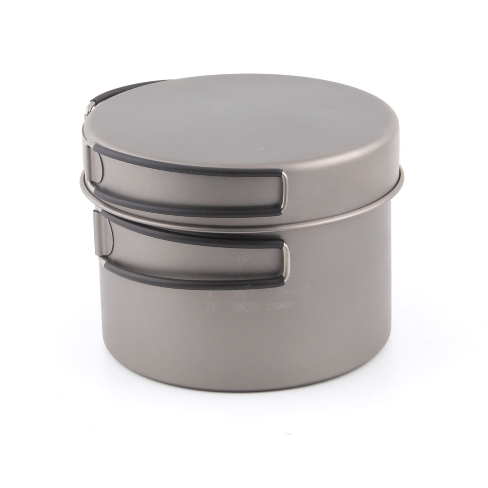 TOAKS CKW-1300 Titanium Pot And Pan With Folding Handle Outdoor Tableware Camping Pan 1300ml toaks pot 1350 ultralight titanium 1350ml pot with bail handle outdoor camping tableware