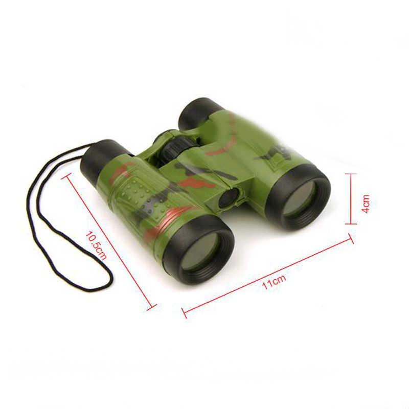 1 Pc di Plastica Pieghevole Camouflage Zoom Binocular Telescope Modello Giocattolo Per Bambini All'aperto Attrezzature Giochi Divertenti