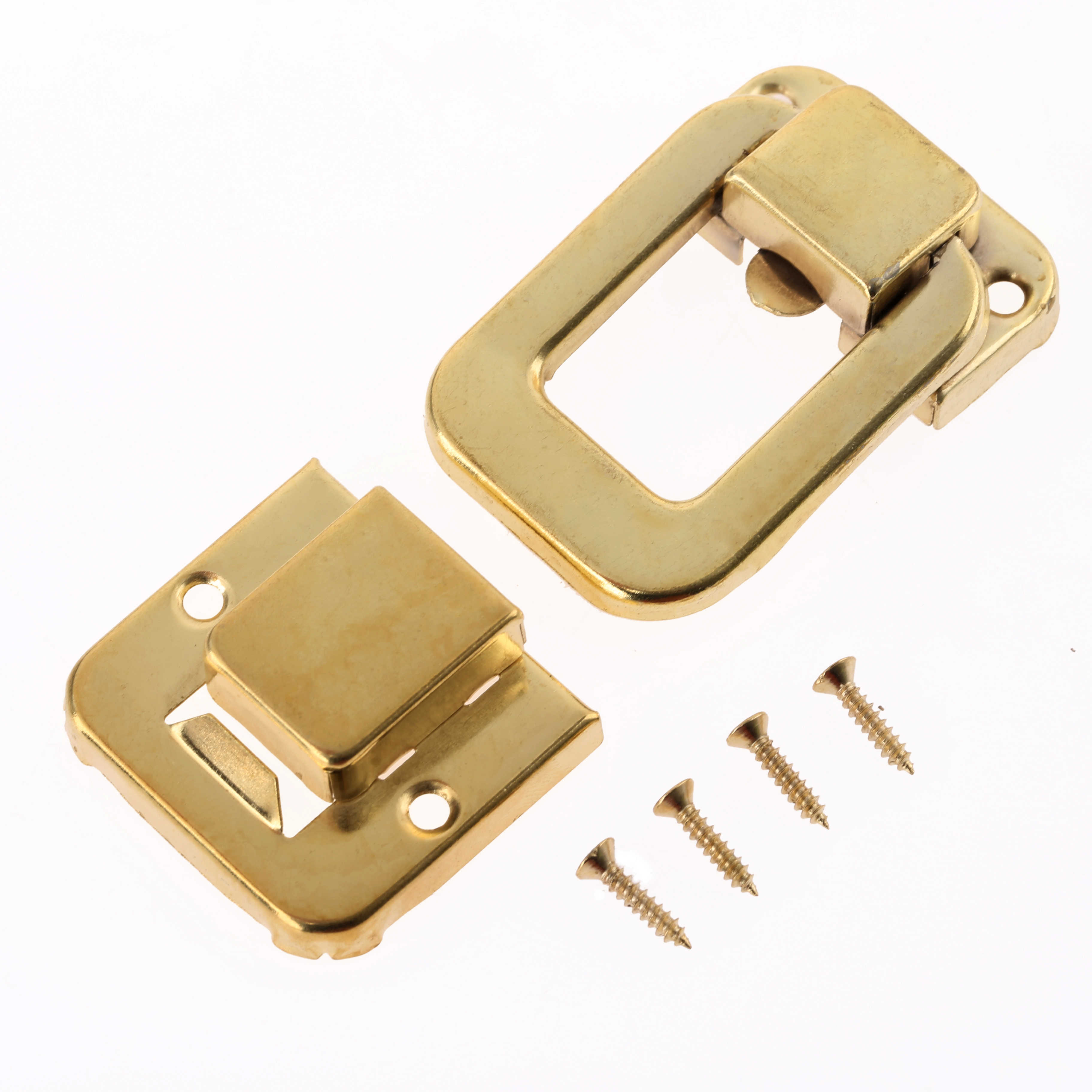 1Pc Antique Gold Box Latches Decorative Hasp Jewelry Wooden Box Suitcase Hasp Latch Toggle With Screw Vintage Hardware 4832Mm 1