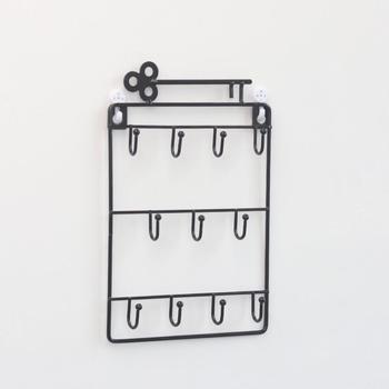 Ǐ�代のシンプルな創造キーホルダー壁キーハンガーラックイヤリングリングネックレス収納フック棚ホーム装飾かぎ針 GY054