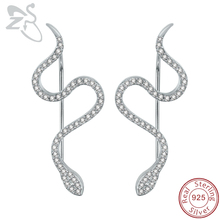 New Design Snake Earrings 925 Sterling Silver Micro Inlay AAA Cubic Zirconia Trendy Earring for Women Wedding Party Jewelry Gift