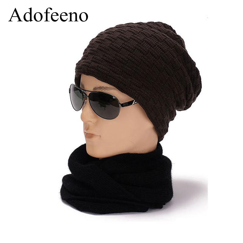 Adofeeno New Winter Hats Men Skullies Beanies Knitted Hats for Men Winter Warm Gorras Hat Cap Beanie automatic ceramic hair curler 25mm professional hair curling iron white electric curling wand styling tools big wave styler