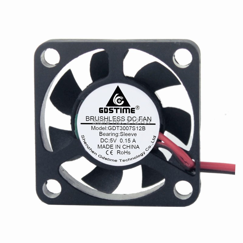 10PCS Gdstime 2Pin 30mm 3cm 3007 30x30x7mm DC Mini Exhaust Cooling Fan 5V in Fans Cooling from Computer Office