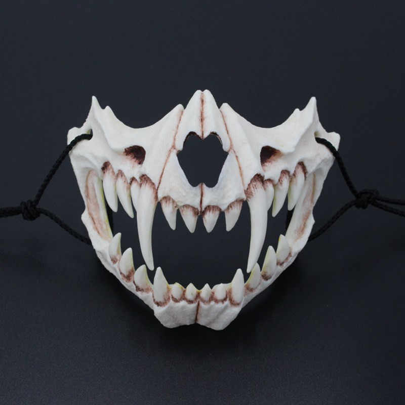New The Japanese Dragon God Mask Eco-friendly and Natural Resin Mask for Animal Theme Party Cosplay Animal Mask Handmade